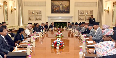 hyderabad house pm with pm of nepal at hyderabad house in new delhi february 20 2016 prime