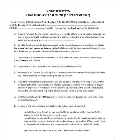 Simple Land Purchase Agreement Form Is Simple Land Purchase Simple Land Contract Template