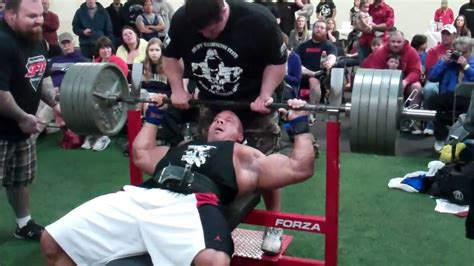 500 pounds bench press stan efferding bench pressing 500 pounds for 7 reps 1