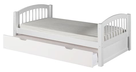 spindle bed twin camaflexi twin size platform bed with twin trundle arch