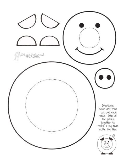 printable arts and crafts for quot paint a pig quot printable craft for turns out way