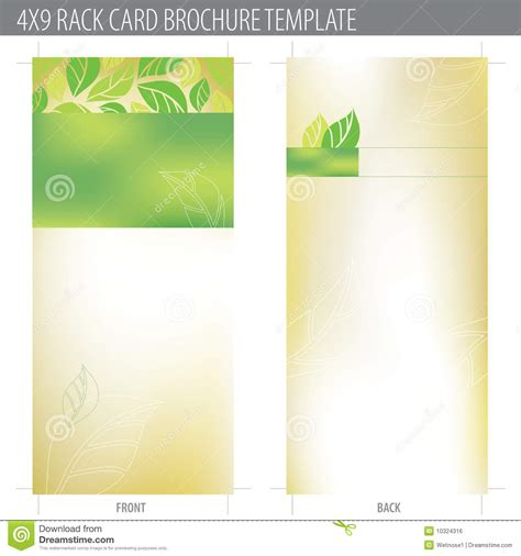 brochure templates to match vistaprint business cards 4x9 rack card brochure template stock vector image 10324316