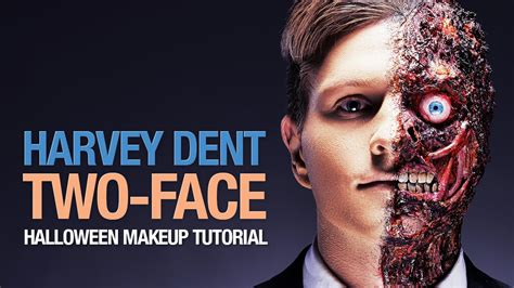 makeup tutorial two face harvey dent two face halloween makeup tutorial youtube
