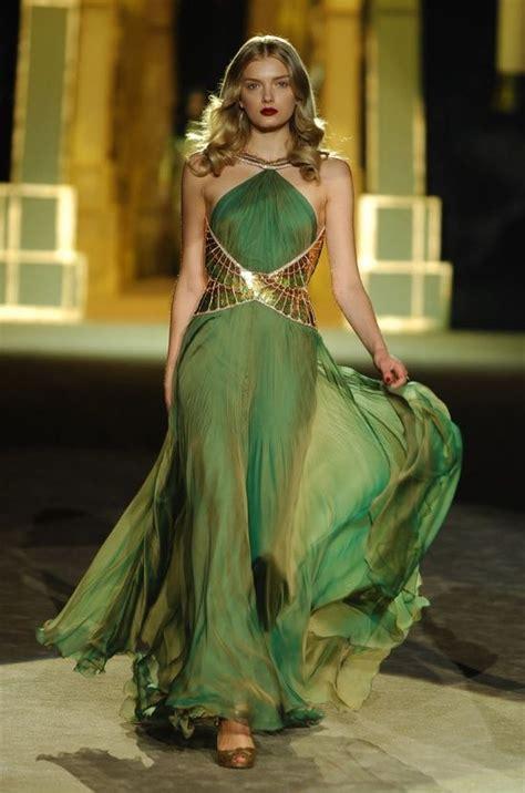 green wedding dress with gold belt empyrean