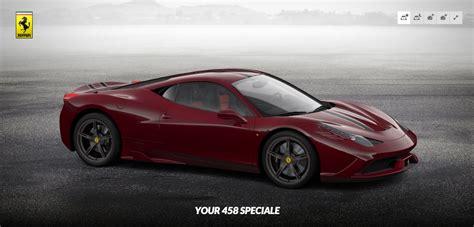 Ferrari Configurator 458 by Ferrari 458 Speciale Configurator Goes Public Autoevolution