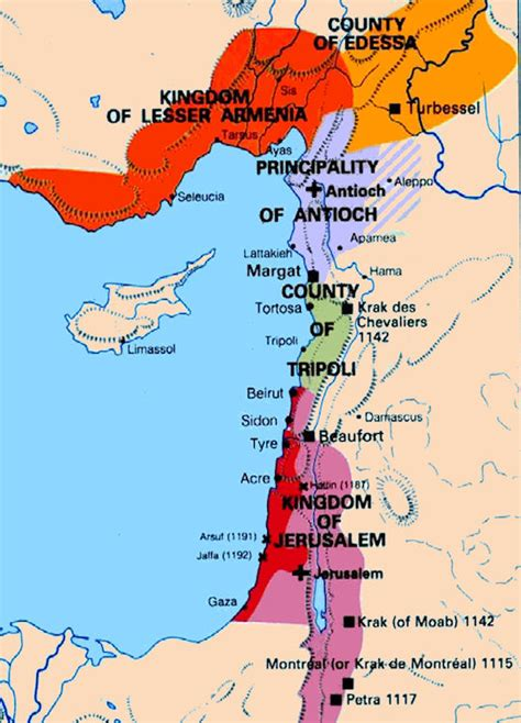 crusader maps 1099 1300 crusader states