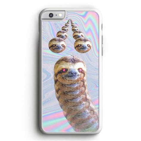 Casing Iphone 7 Sloth Slothzilla Building Empire Custom trippy sloth heads iphone 6 plus iphone 6 plus products and sloths