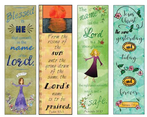 free printable name bookmarks bible verse bookmarks on the name of the lord diy full color