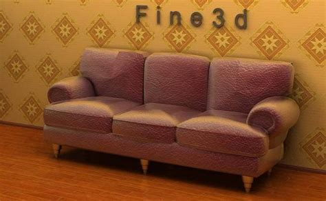 rough on couch 3d three seat rough material sofa cgtrader