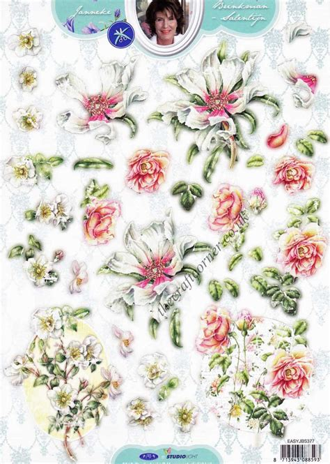 die cut decoupage sheets honeysuckle flower die cut 3d decoupage sheet
