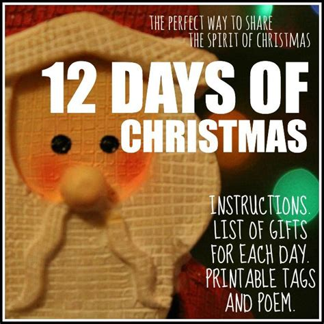 12 days of christmas share the christmas spirit today