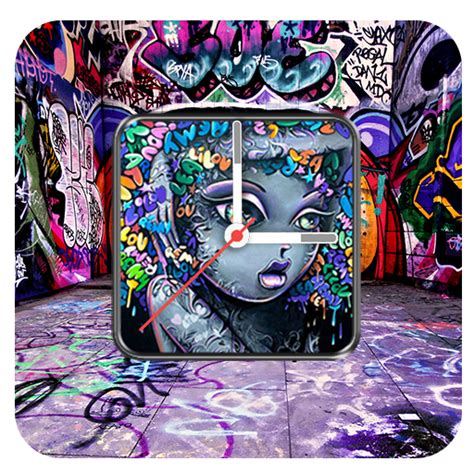 graffiti wallpaper amazon graffiti clock live wallpaper amazon com br amazon appstore