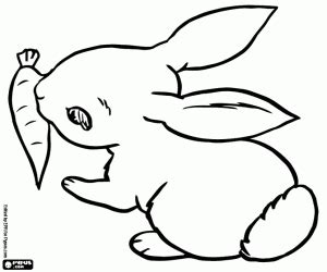 rabbits bunnies coloring pages printable games