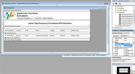 cara membuat query pada visual basic menghubungkan data report vb6 dengan query database