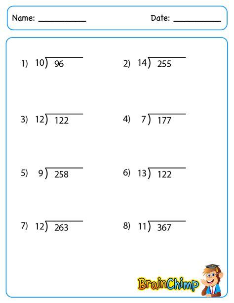 printable division worksheets no remainders long division without remainders worksheet long division
