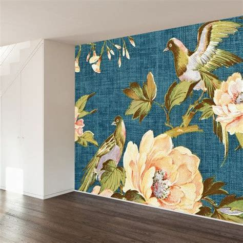 Fabric Wall Mural Oriental Outdoor Removable Wallpaper Vintage Fabrics