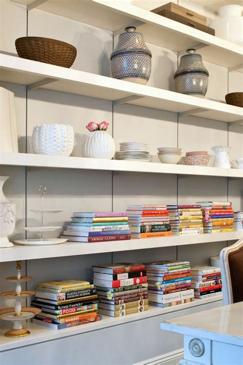 pin by lee riley on home sweet home pinterest open shelving to display cookbooks dishes katie lee