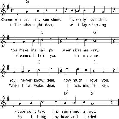 printable sheet music you are my sunshine you are my sunshine sheet music pinterest liedtext