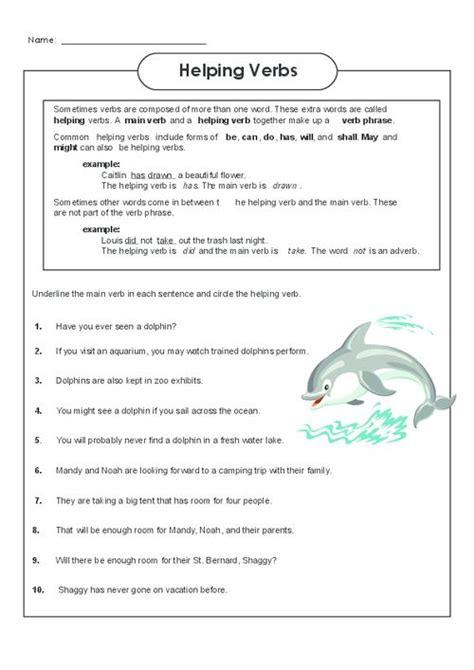 Identifying Verbs Worksheet by Helping Verbs Worksheet 3 Language And Worksheets