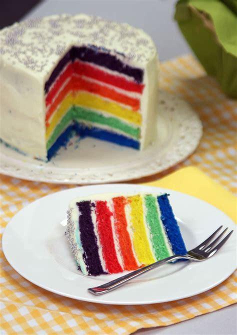 kuchen für zwillinge rainbow cake regenbogen kuchen schritt f 195 188 r schritt
