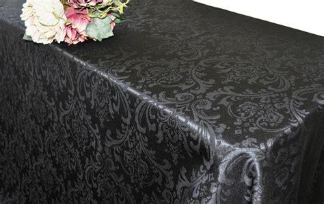 jacquard table linens black rectangular damask jacquard tablecloths 90 quot x 156