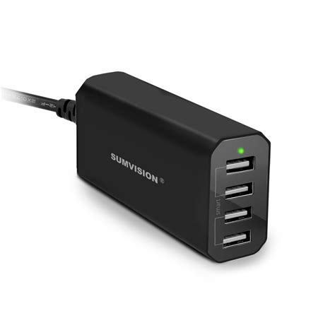 Jual Usb Home Charger 4 Port Smart Power 4 ports 36w usb charger black with power iq smart