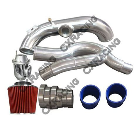 bmw turbo filter 3 quot turbo intake piping filter bov kit for bmw e87 135i e90