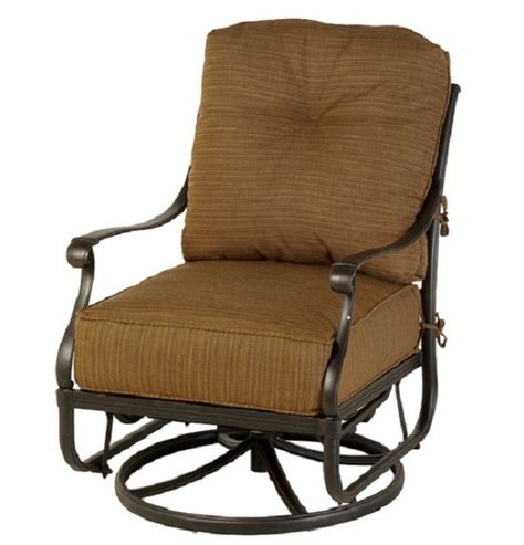 Glider Patio Chair Mayfair By Hanamint Luxury Cast Aluminum Patio Furniture Swivel Glider Club Chair