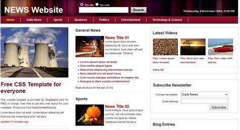 web templates bootstrap news bootstrap theme free html