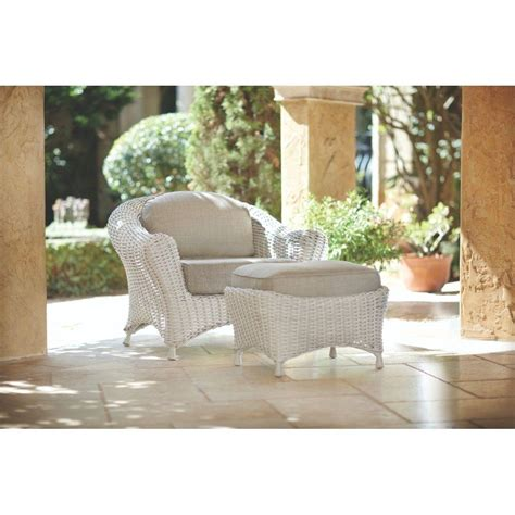 Martha Stewart Living Patio Furniture Cushions Martha Stewart Living Lake Adela Bone 2 Patio Lounge Chair And Ottoman Set With Wheat