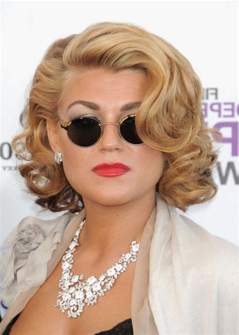 round face curly bob melody gardot short wavy curly bob hairstyle for round