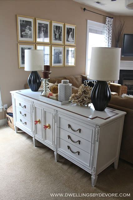 dresser behind couch eclectic home tour dwellings by devore