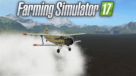 pulverizando as lavouras o avi 195 o muito louco farming simulator 17 pt br