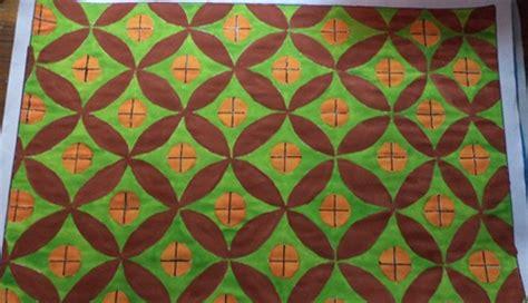 gambar batik yang mudah digambar di kertas batik indonesia karya seni rupa kreasi ku