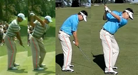 right leg straightening in golf swing right back knee flex in backswing instruction and