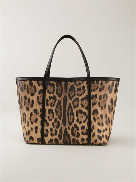 Dg Dolce And Gabbana Ocelot Print Tote by Dolce Gabbana Leopard Print Tote In Brown Lyst