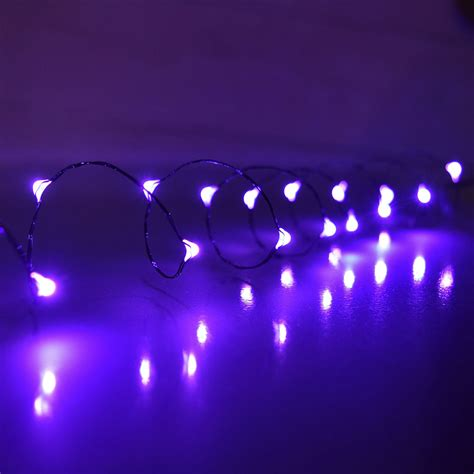 purple led mini battery operated party string lights