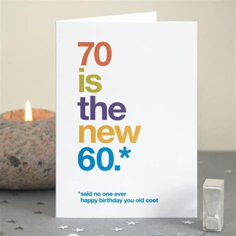 Humorous 70th Birthday Quotes Funny 70th Birthday Card 70 Card Sarcastic 70th Birthday