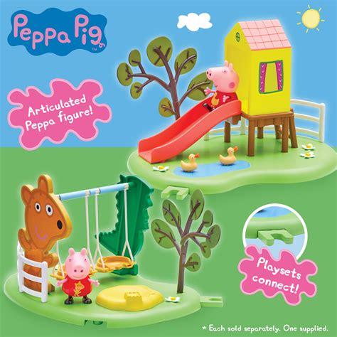 peppa pig swing playset peppa pig outdoor fun swing playset toy at mighty