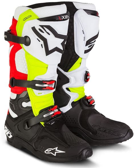motocross boots alpinestars alpinestars 2016 mx tech 10 le trey canard yellow