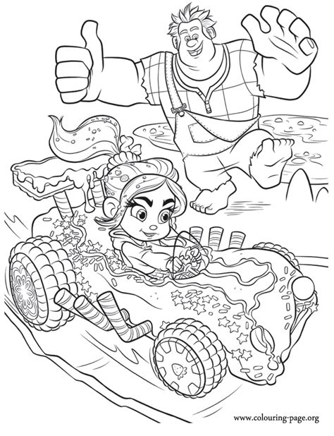 Coloring Pages Wreck It Ralph | wreck it ralph wreck it ralph cheering for vanellope