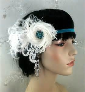 1920 hair accessories flapper style headband 1920s hair accessories bridal fascinator feather fascinator fascinator