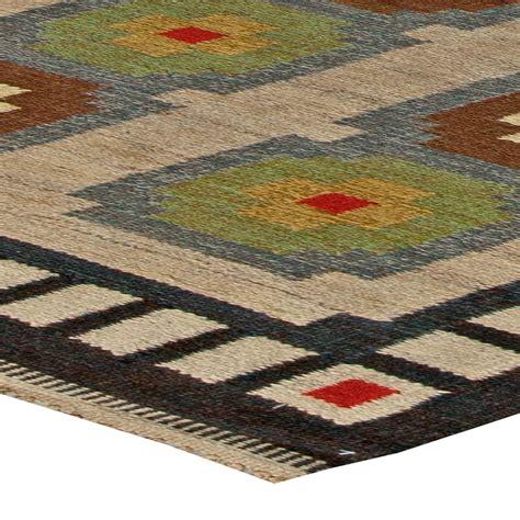 vintage scandinavian flat weave rug bb5687 by doris leslie