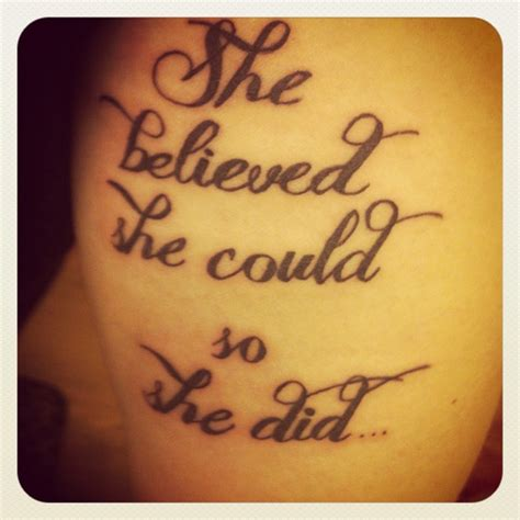she believed she could tattoo 183 best images about tattoos on fonts