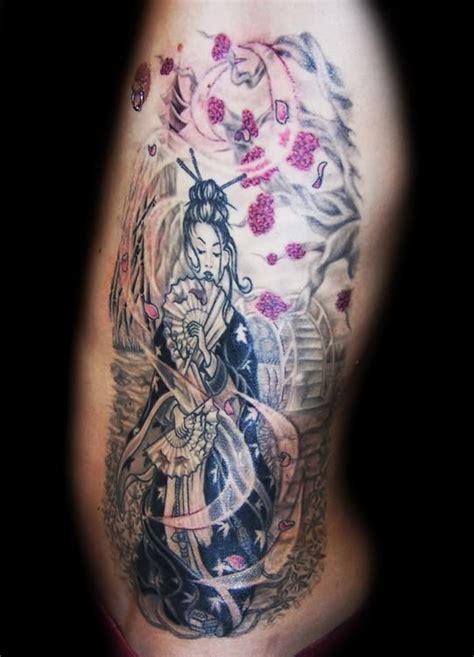 geisha girl tattoo ribs geisha rib tattoo design
