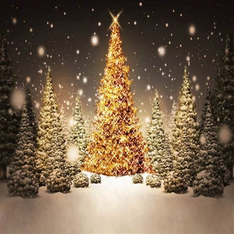 10x10ft gray sky forest trees outdoor glitter golden