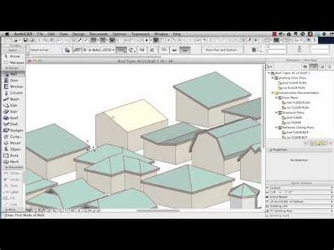 revit tutorial modelling archicad tutorial roof modeling in archicad 15 and above