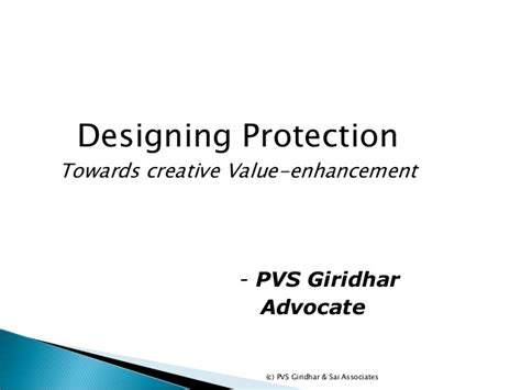 design protection for value enhancement