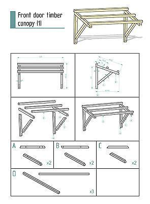 timber front door canopy porch hand  porch cm