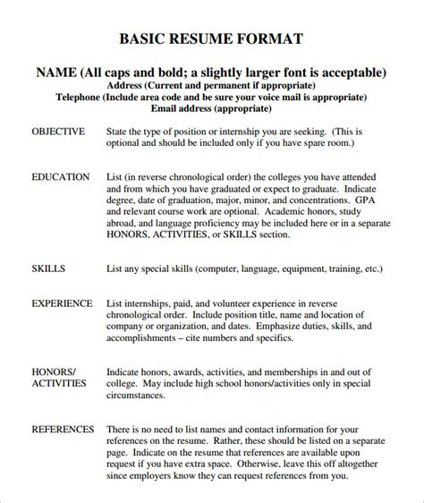 resume sample resume template word